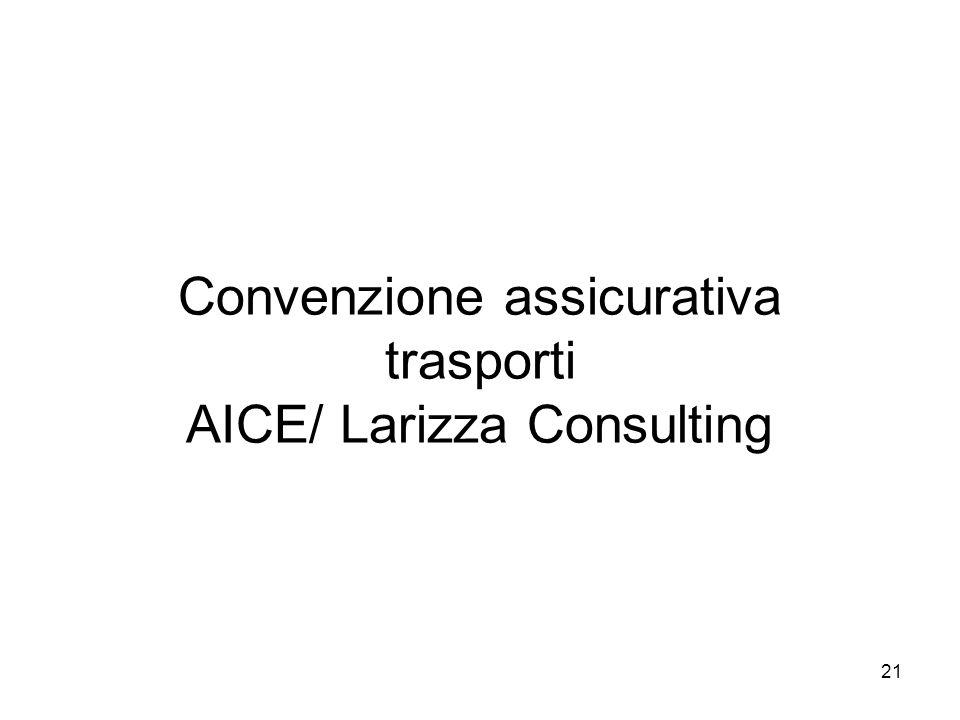 21 Convenzione assicurativa trasporti AICE/ Larizza Consulting