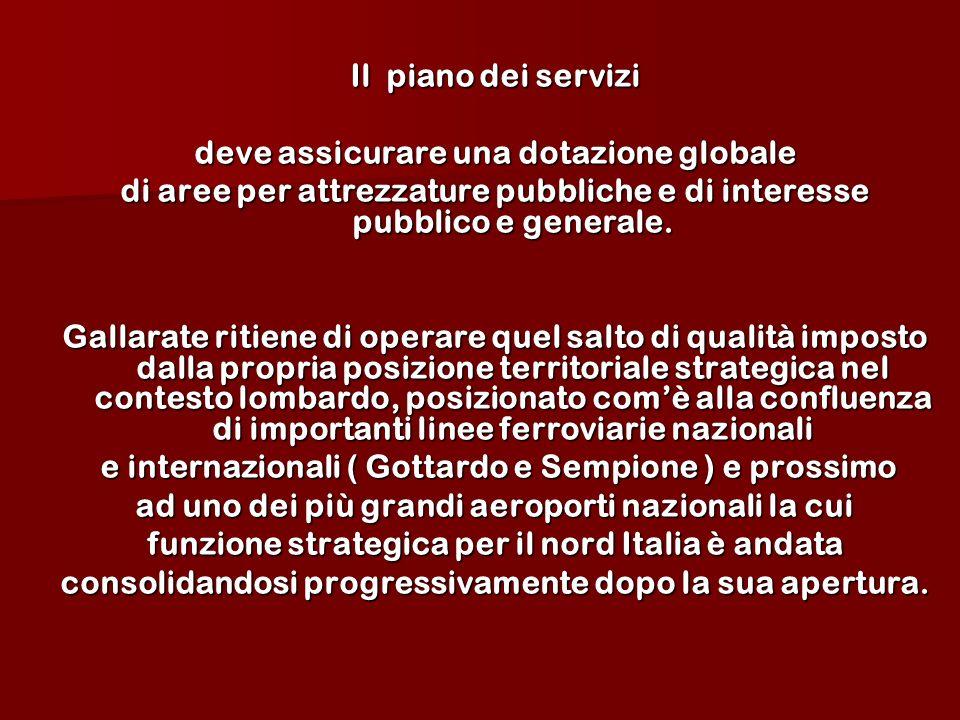 Il piano dei servizi deve assicurare una dotazione globale di aree per attrezzature pubbliche e di interesse pubblico e generale.