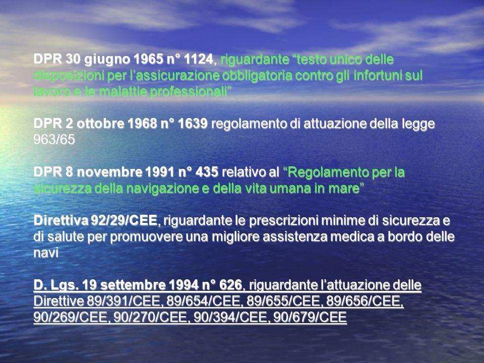 DPR 30 giugno 1965 n° 1124, riguardante testo unico delle disposizioni per lassicurazione obbligatoria contro gli infortuni sul lavoro e le malattie p