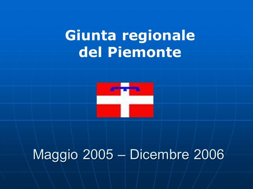 Maggio 2005 – Dicembre 2006 Giunta regionale del Piemonte