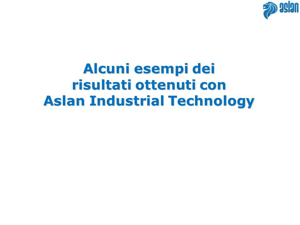 Alcuni esempi dei risultati ottenuti con Aslan Industrial Technology