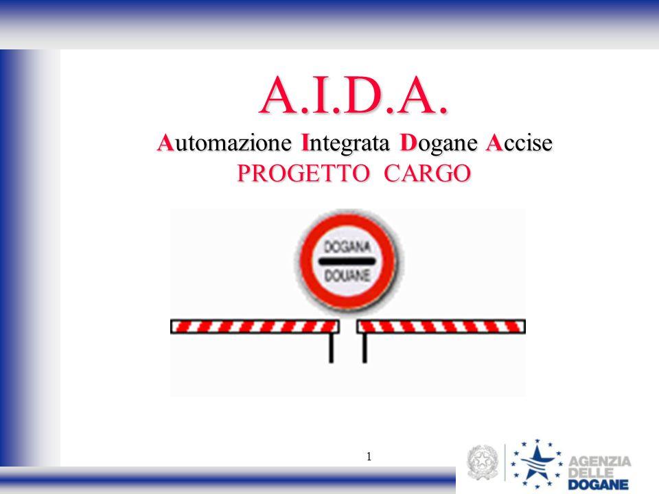1 A.I.D.A. Automazione Integrata Dogane Accise PROGETTO CARGO