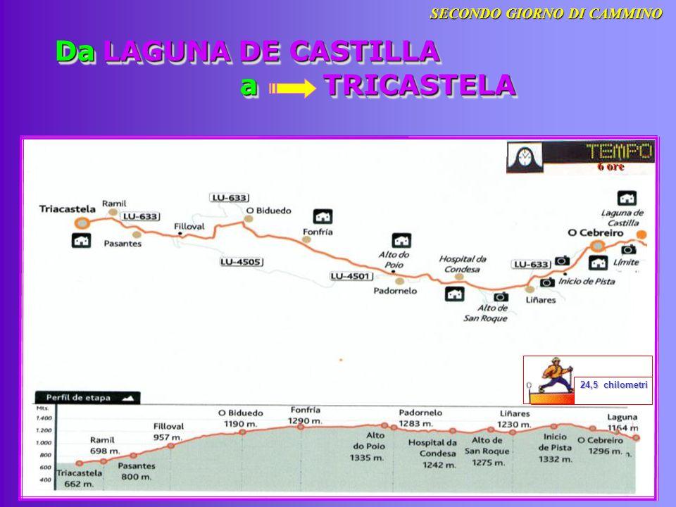 Da LAGUNA DE CASTILLA a TRICASTELA 6 ore 24,5 chilometri 24,5 chilometri SECONDO GIORNO DI CAMMINO
