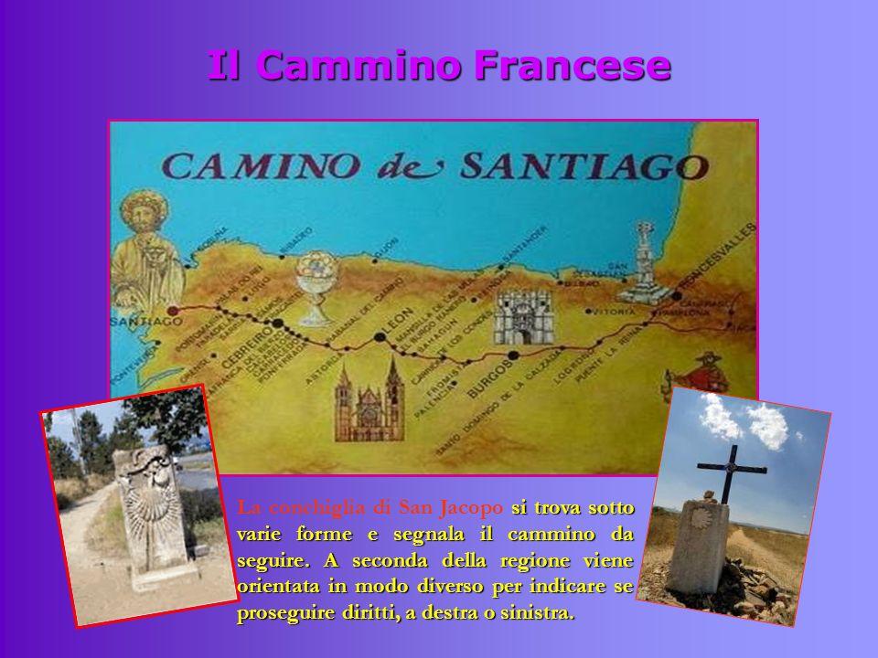 Il Cammino Francese si trova sotto varie forme e segnala il cammino da seguire. A seconda della regione viene orientata in modo diverso per indicare s