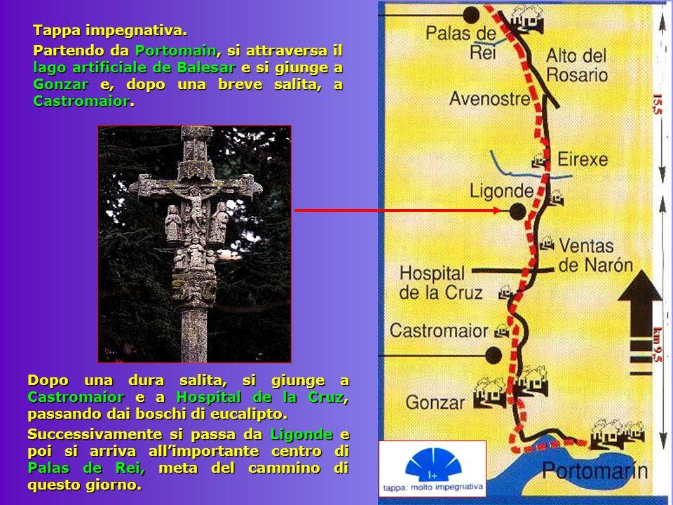 Tappa impegnativa. Partendo da Portomain, si attraversa il lago artificiale de Balesar e si giunge a Gonzar e, dopo una breve salita, a Castromaior. 1