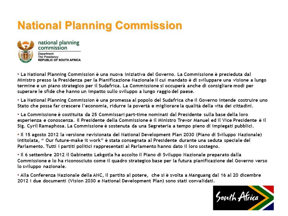 National Planning Commission La National Planning Commission è una nuova iniziativa del Governo. La Commissione è presieduta dal Ministro presso la Pr