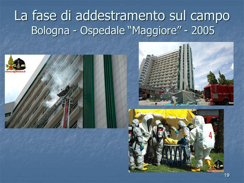 19 Bologna - Ospedale Maggiore - 2005 La fase di addestramento sul campo
