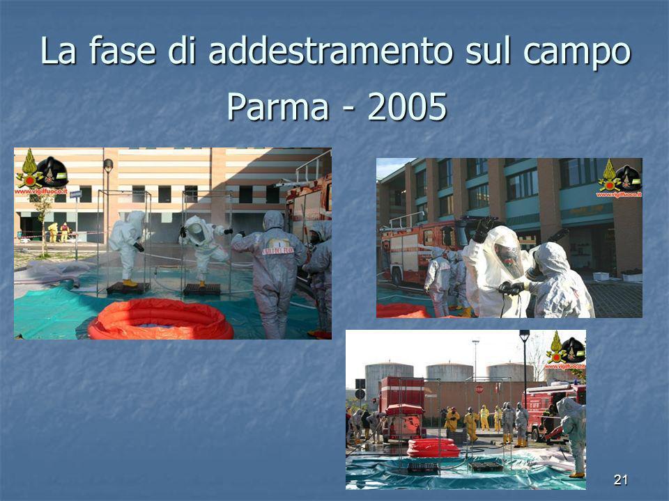 21 Parma - 2005 La fase di addestramento sul campo