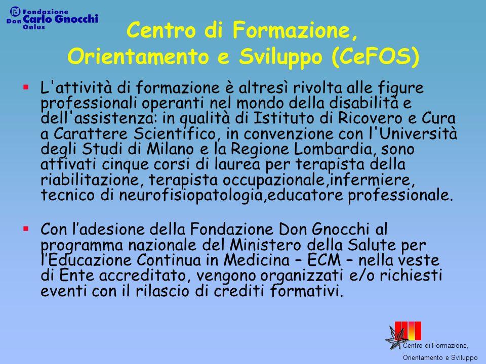 Centro di Formazione, Orientamento e Sviluppo Formazione Superiore Formazione I.F.T.S.