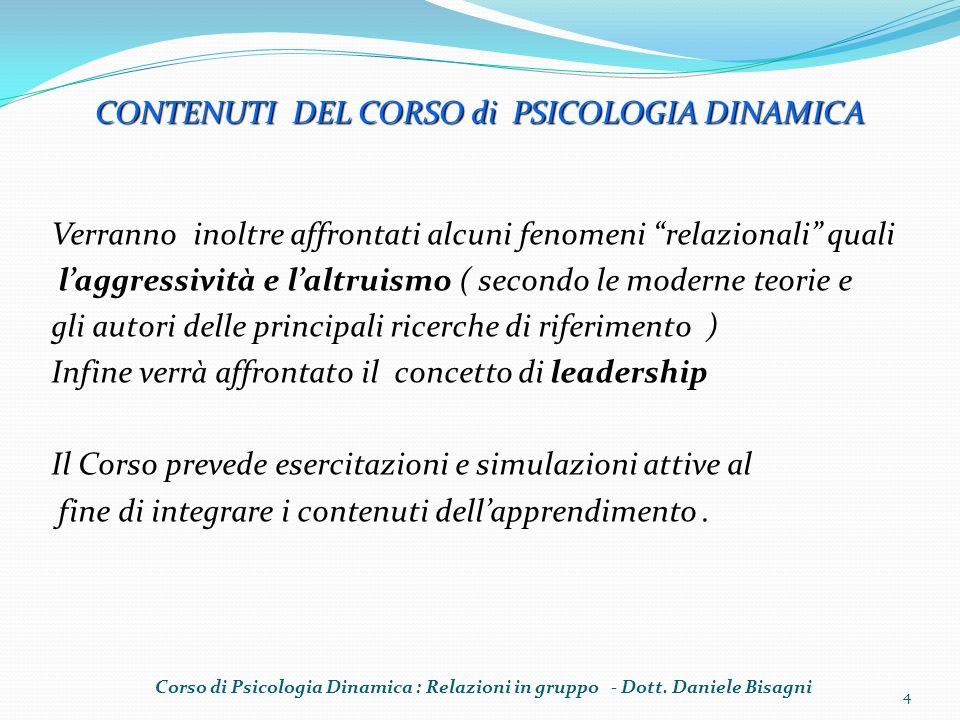 GRUPPI (Bales) Istituzionali o Spontanei Primari o Secondari Formali o Informali Corso di Psicologia Dinamica : Relazioni in gruppo - Dott.