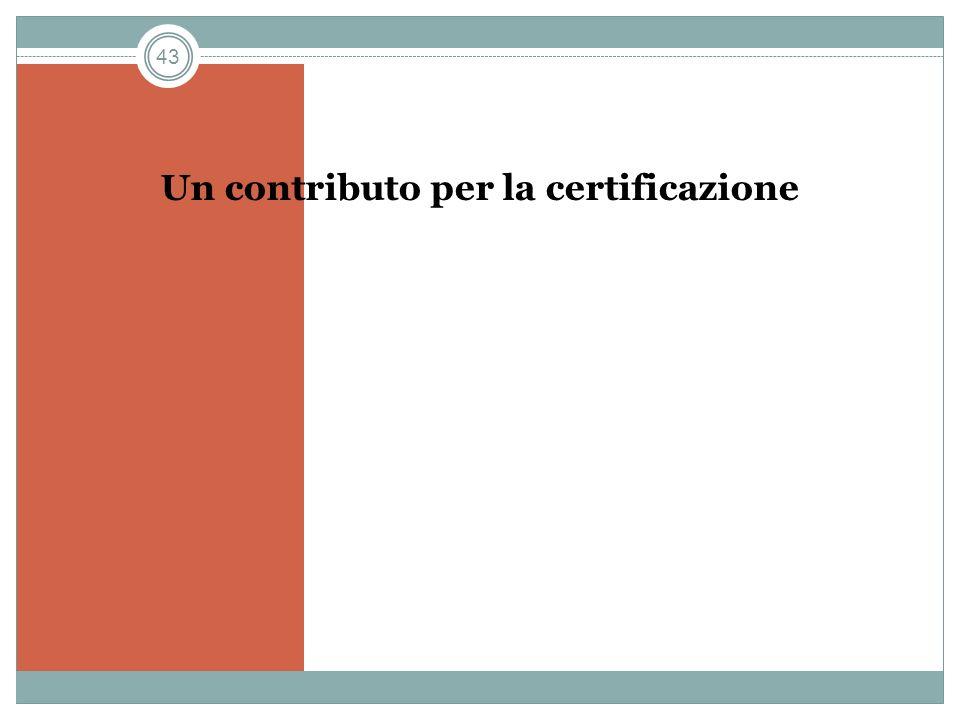 43 Un contributo per la certificazione