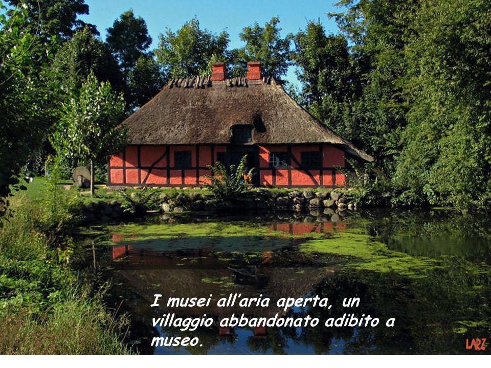 I musei allaria aperta, un villaggio abbandonato adibito a museo.