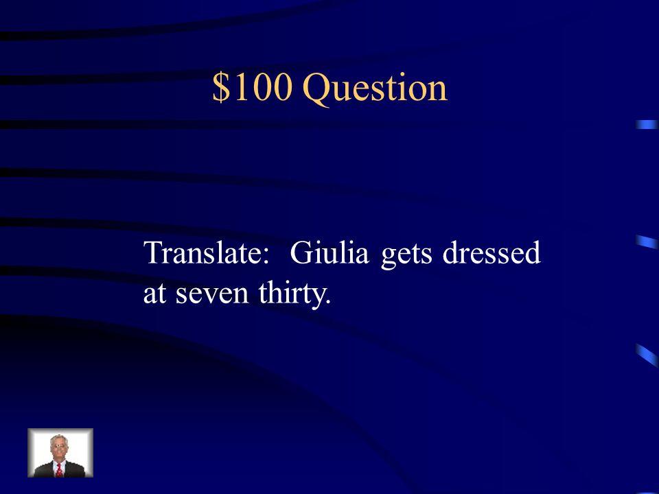 $100 Question Una piuma