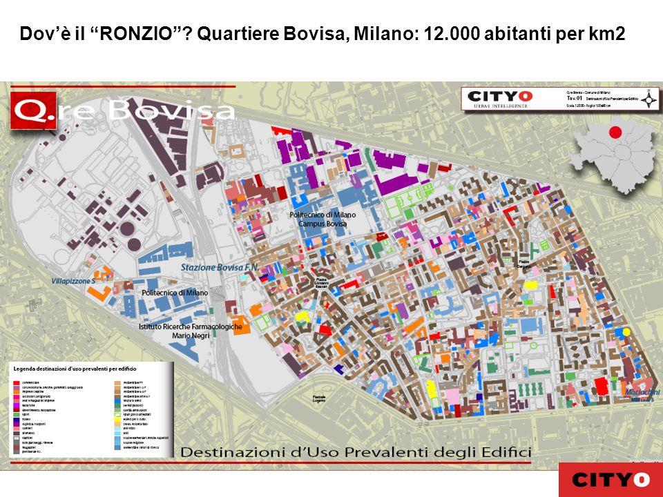 Dovè il RONZIO? Quartiere Bovisa, Milano: 12.000 abitanti per km2