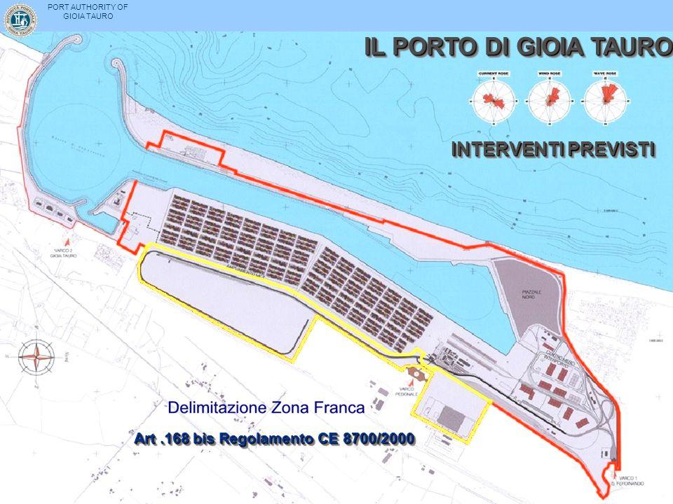IL PORTO DI GIOIA TAURO INTERVENTI PREVISTI PORT AUTHORITY OF GIOIA TAURO Art.168 bis Regolamento CE 8700/2000