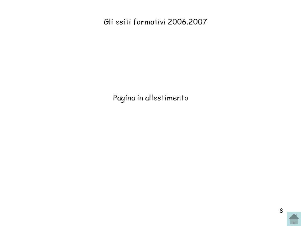 8 Gli esiti formativi 2006.2007 Pagina in allestimento
