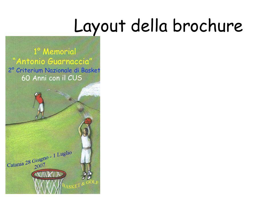 Layout della brochure