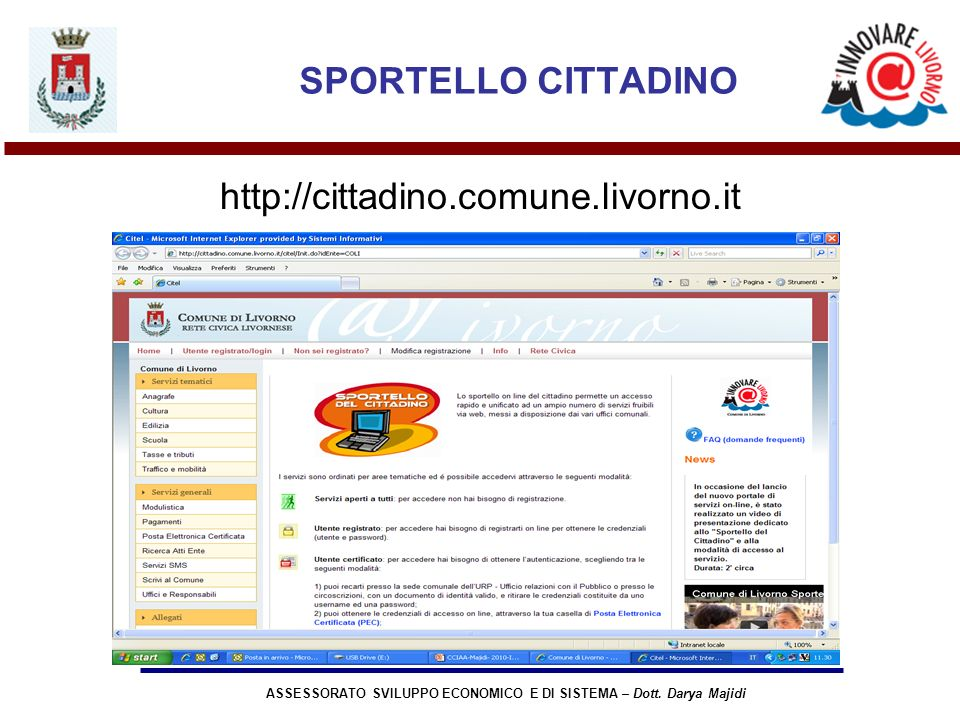 ASSESSORATO SVILUPPO ECONOMICO E DI SISTEMA – Dott.
