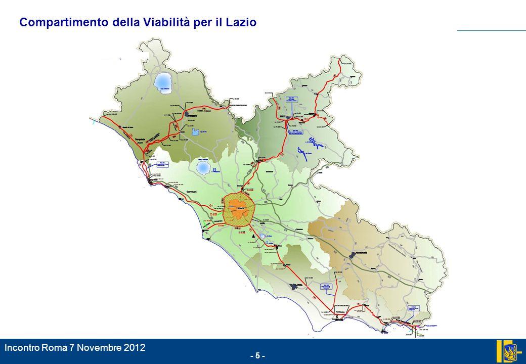- 5 - Incontro Roma 7 Novembre 2012.; Compartimento della Viabilità per il Lazio