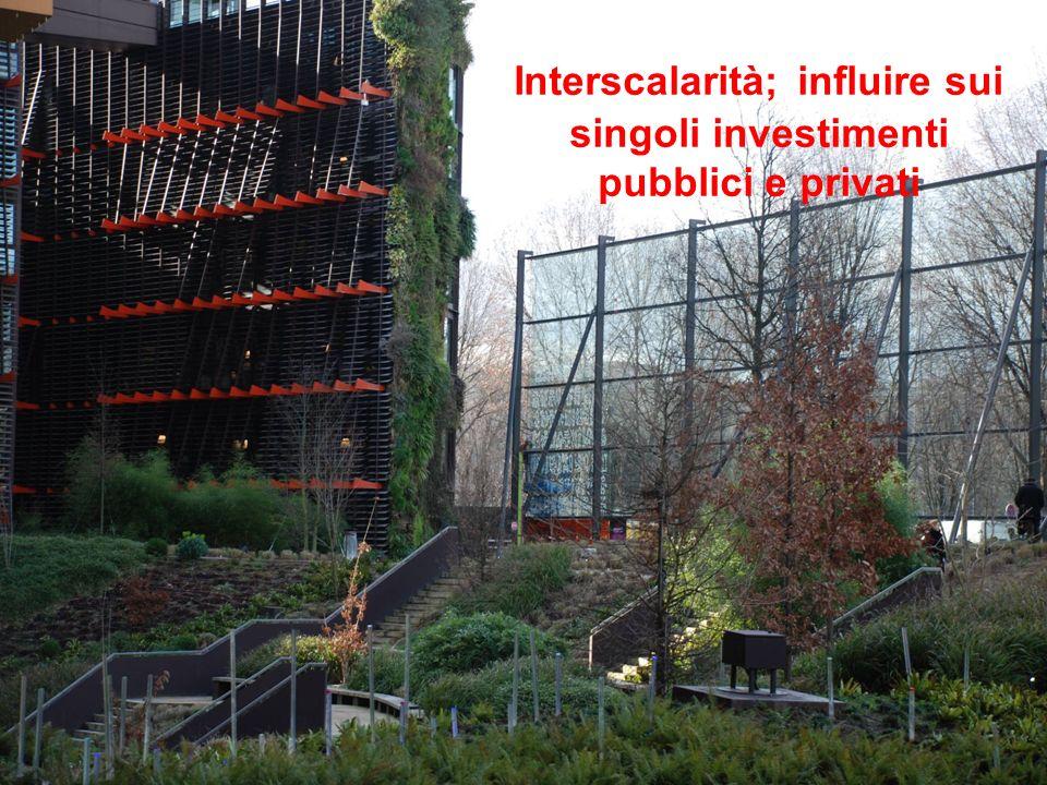 Interscalarità; influire sui singoli investimenti pubblici e privati