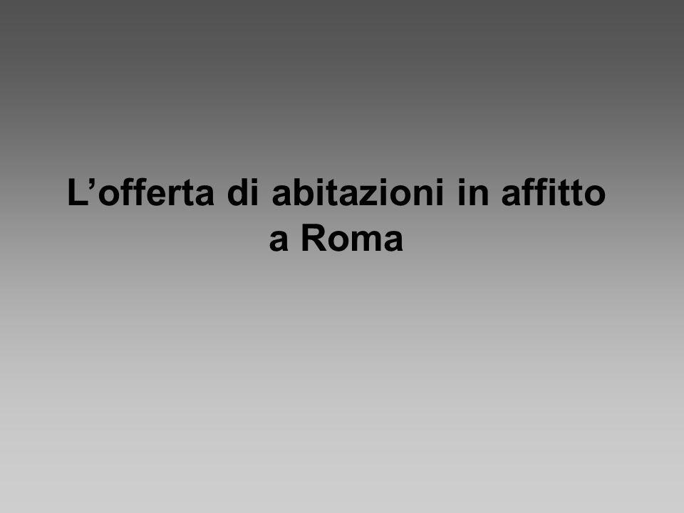 Gli affitti Roma - valore medio: 1.300,00 euro mensili Per un alloggio di 80 mq.