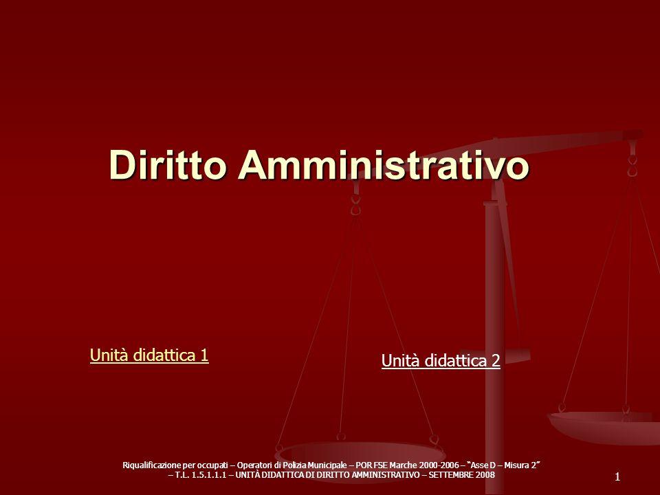 Riqualificazione per occupati – Operatori di Polizia Municipale – POR FSE Marche 2000-2006 – Asse D – Misura 2 – T.L. 1.5.1.1.1 – UNITÀ DIDATTICA DI D