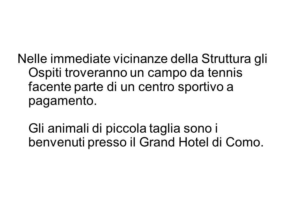 Nelle immediate vicinanze della Struttura gli Ospiti troveranno un campo da tennis facente parte di un centro sportivo a pagamento. Gli animali di pic