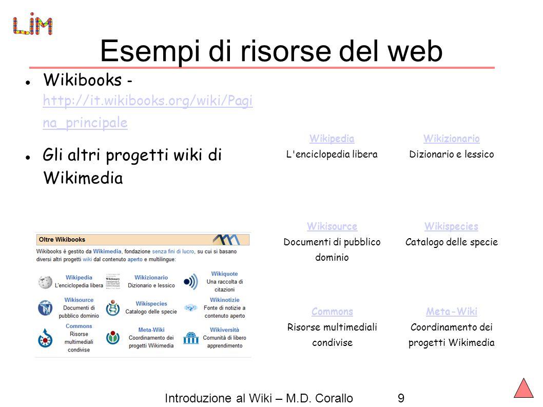 Introduzione al Wiki – M.D.
