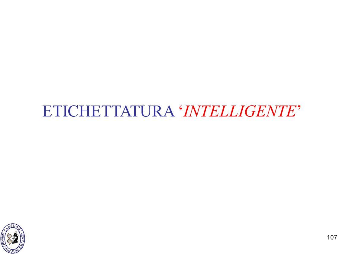 107 ETICHETTATURA INTELLIGENTE