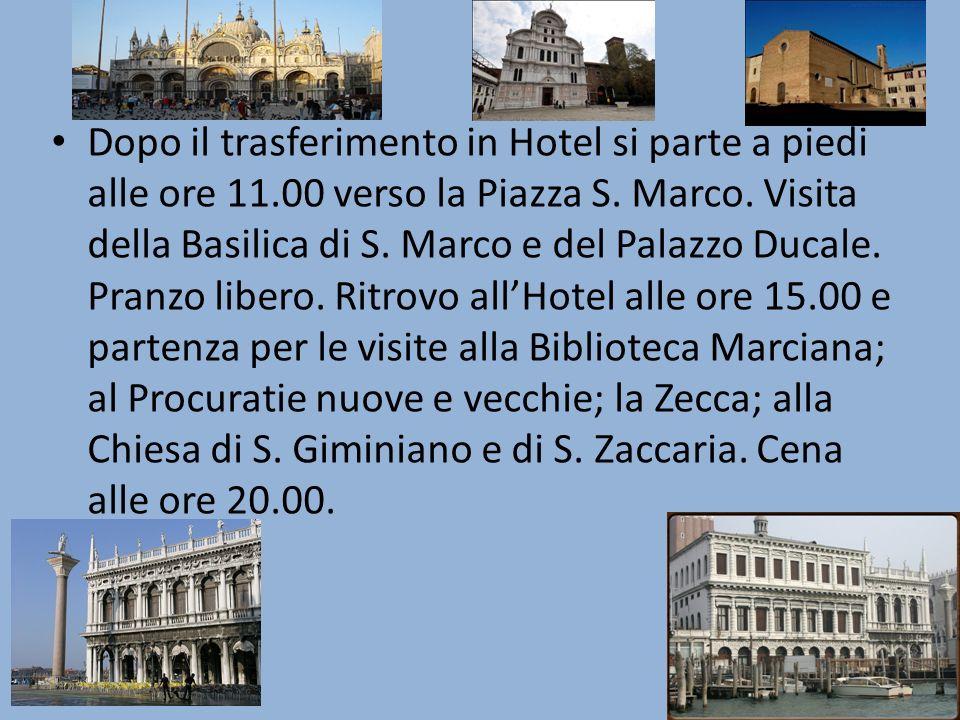 2°giorno: Colazione in Hotel.Partenza alle ore 8.30 a Padova con pullman riservato.