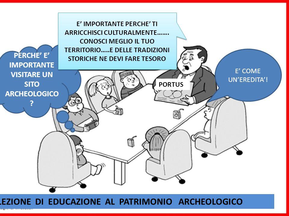 PERCHE E IMPORTANTE VISITARE UN SITO ARCHEOLOGICO ? PORTUS LEZIONE DI EDUCAZIONE AL PATRIMONIO ARCHEOLOGICO E IMPORTANTE PERCHE TI ARRICCHISCI CULTURA