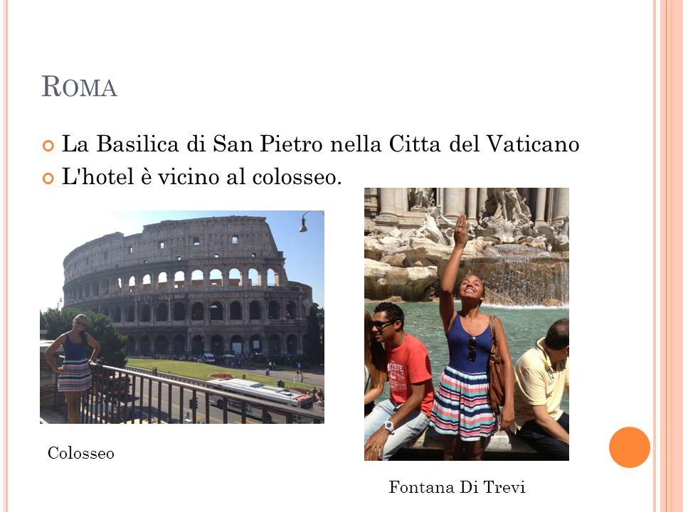 R OMA La Basilica di San Pietro nella Citta del Vaticano L hotel è vicino al colosseo.