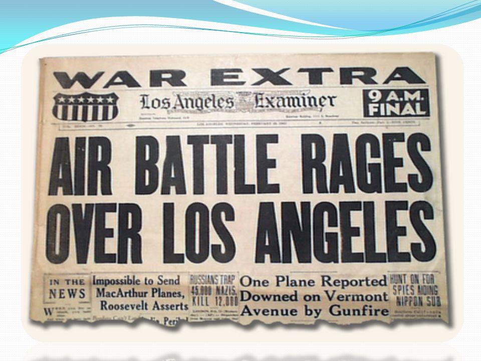 La battaglia di Los Angeles 15 febbraio 1942: Venti oggetti volanti sconosciuti vengono segnalati sulla costa occidentale degli USA. La contraerea di