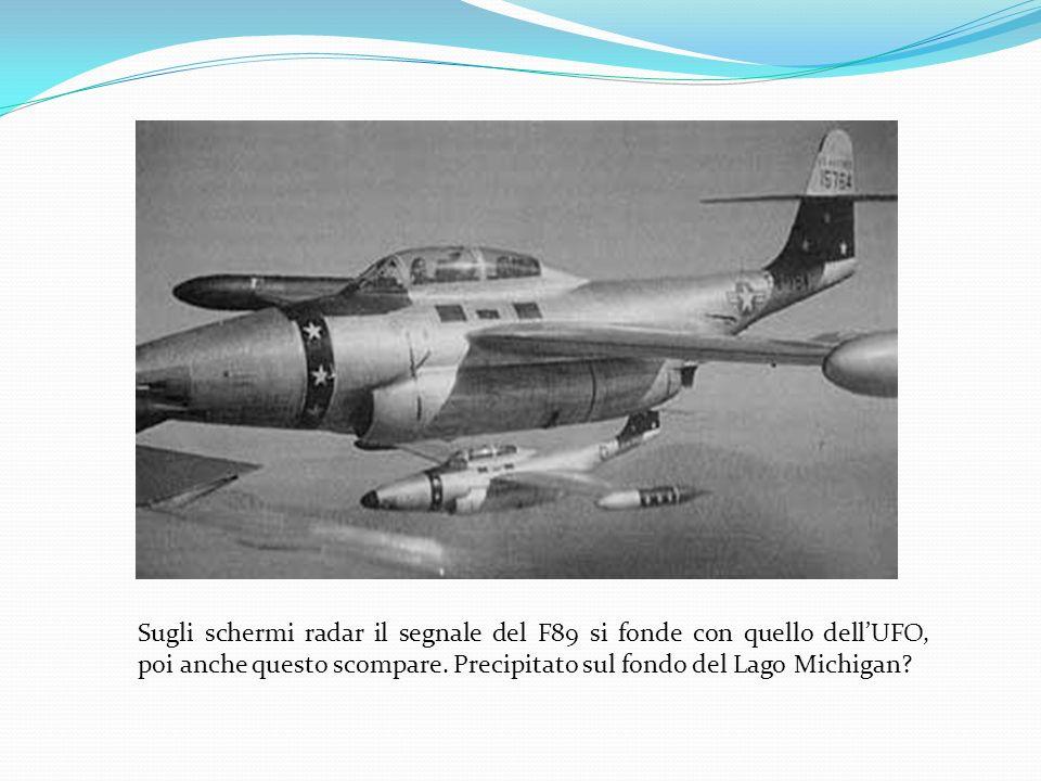 23 nov. 1953: il caso Moncla Rilevazione di un segnale radar anomalo dalla Difesa Aerea del Michigan. Dalla base aerea di Kimross il pilota veterano F