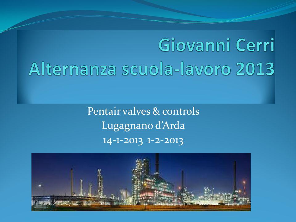 Pentair valves & controls Lugagnano dArda 14-1-2013 1-2-2013