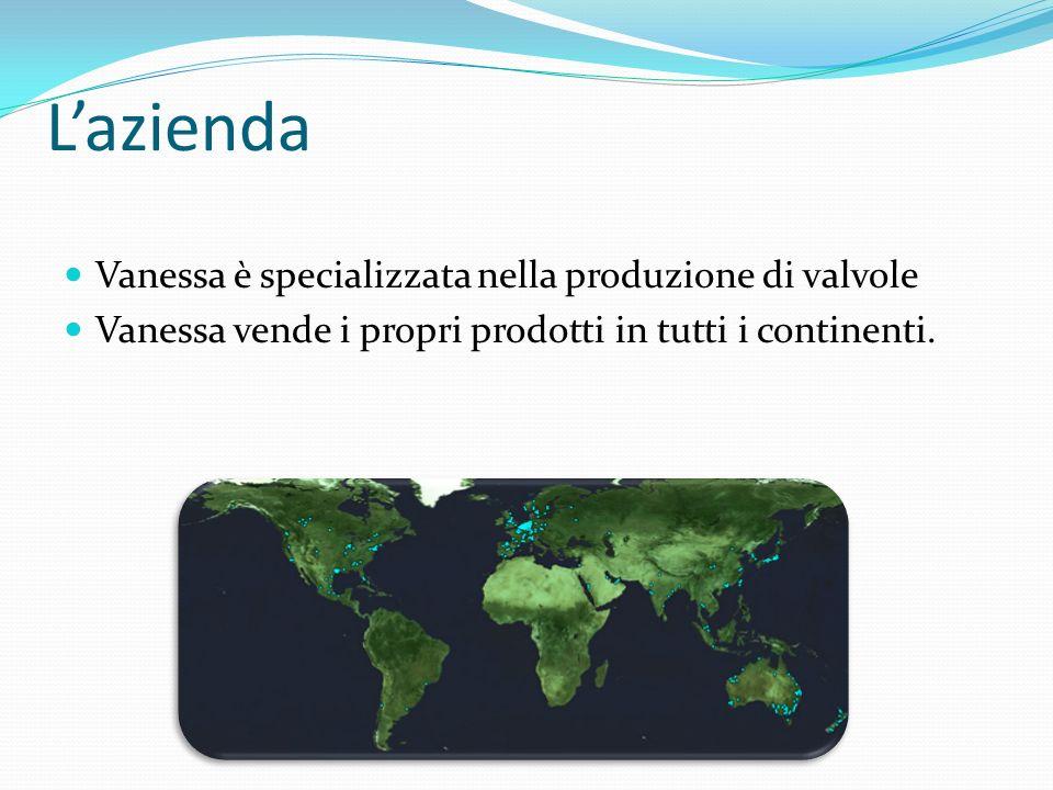 Lazienda Vanessa è specializzata nella produzione di valvole Vanessa vende i propri prodotti in tutti i continenti.