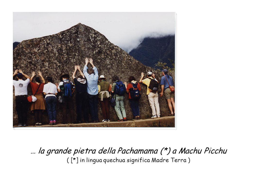 … la grande pietra della Pachamama (*) a Machu Picchu ( [*] in lingua quechua significa Madre Terra )