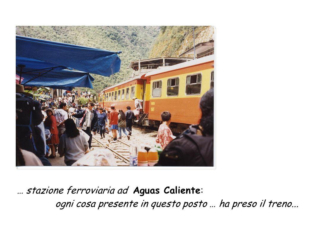 … stazione ferroviaria ad Aguas Caliente: ogni cosa presente in questo posto … ha preso il treno...