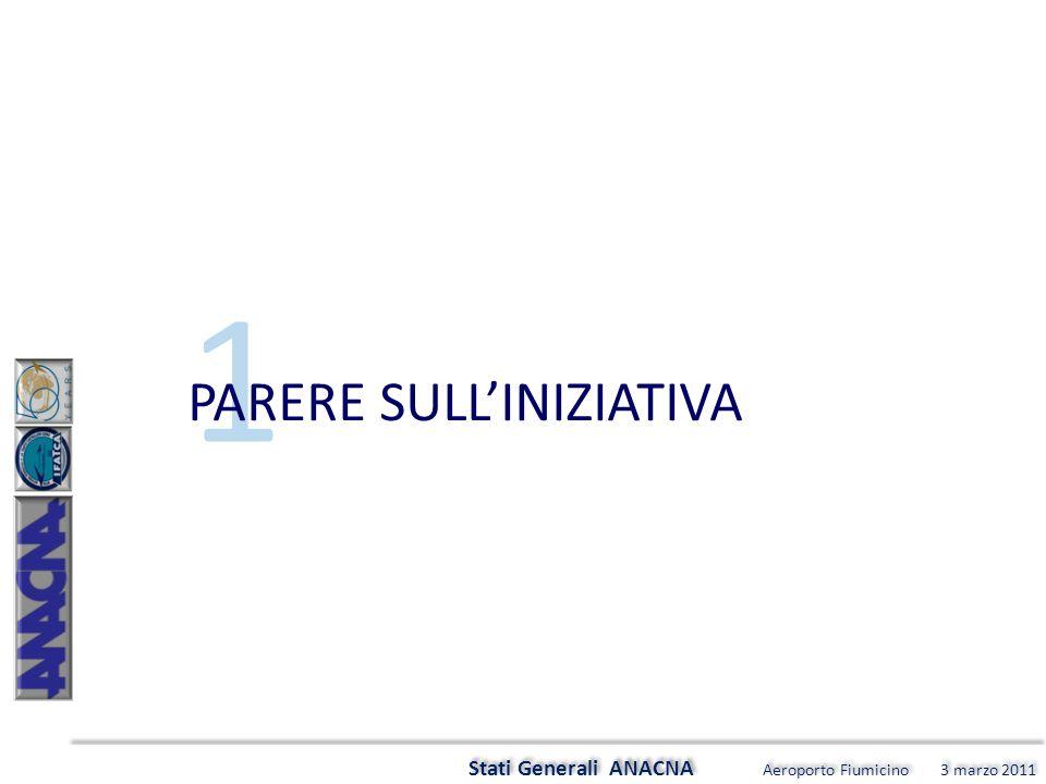 5 Stati Generali ANACNA Aeroporto Fiumicino 3 marzo 2011 QUALI LE MAGGIORI PROBLEMATICHE A LIVELLO LOCALE