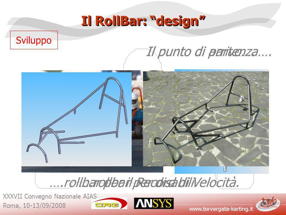 www.torvergata-karting.it XXXVII Convegno Nazionale AIAS Roma, 10-13/09/2008 Il RollBar: design Sviluppo Il punto di partenza….