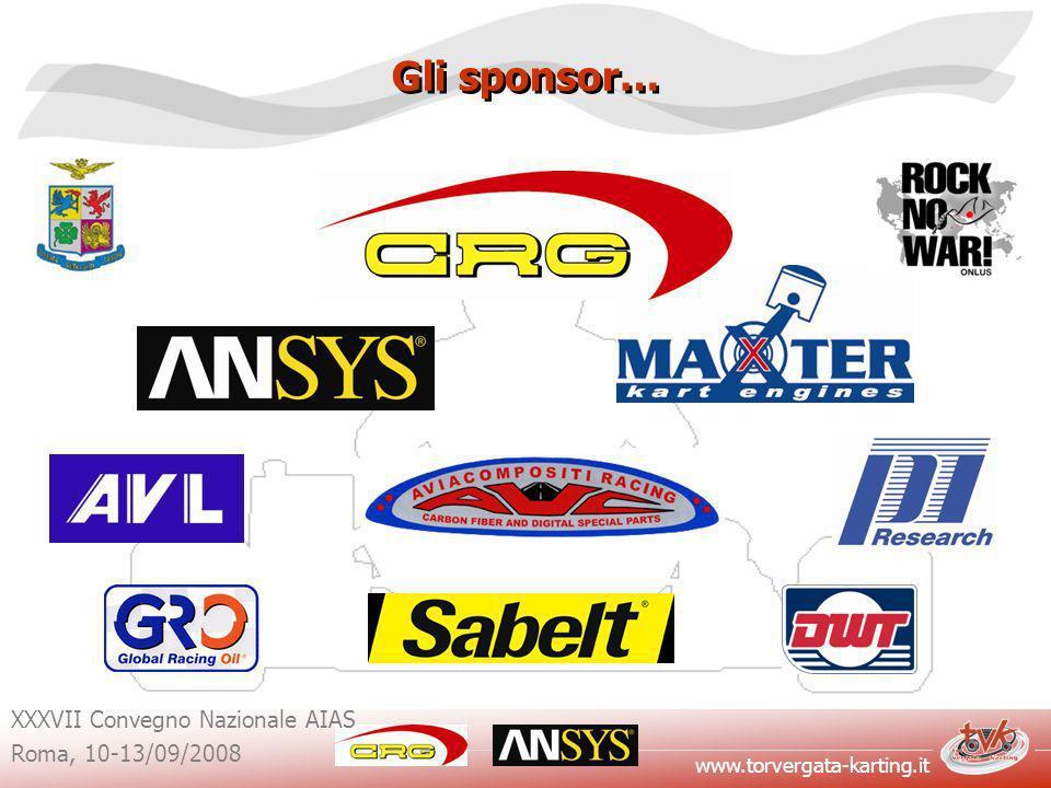 www.torvergata-karting.it XXXVII Convegno Nazionale AIAS Roma, 10-13/09/2008 Gli sponsor…