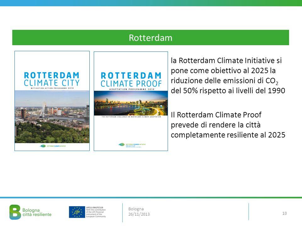 la Rotterdam Climate Initiative si pone come obiettivo al 2025 la riduzione delle emissioni di CO 2 del 50% rispetto ai livelli del 1990 Il Rotterdam