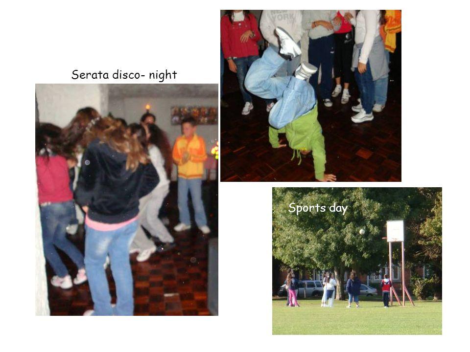 Serata disco- night Sports day