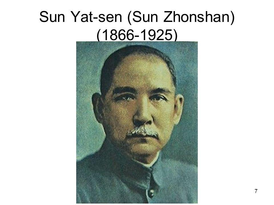 7 Sun Yat-sen (Sun Zhonshan) (1866-1925)