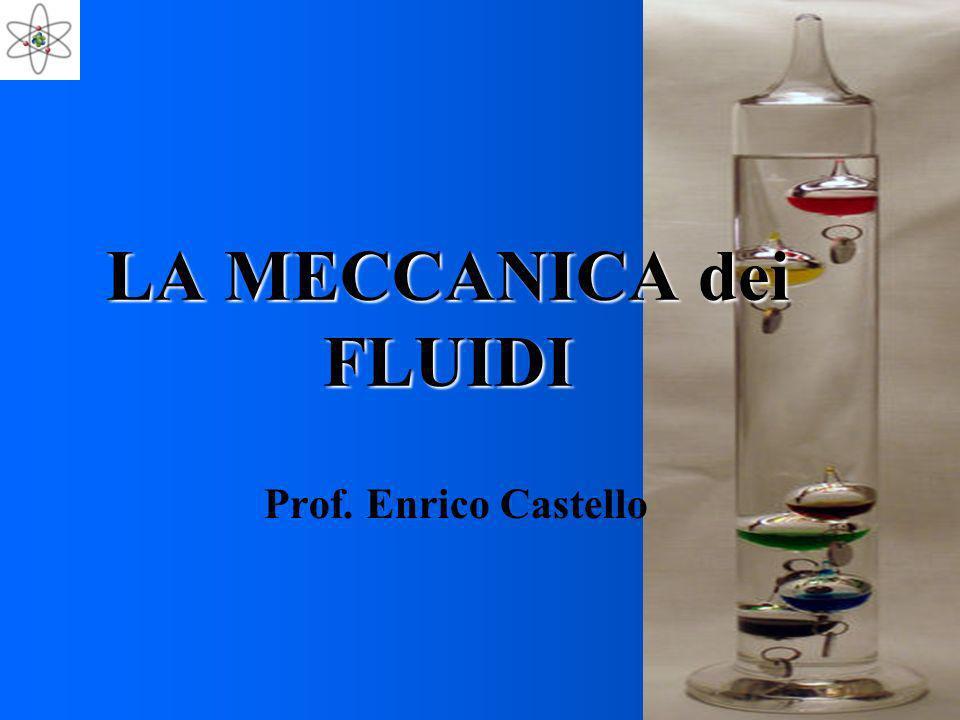 LA MECCANICA dei FLUIDI Prof. Enrico Castello