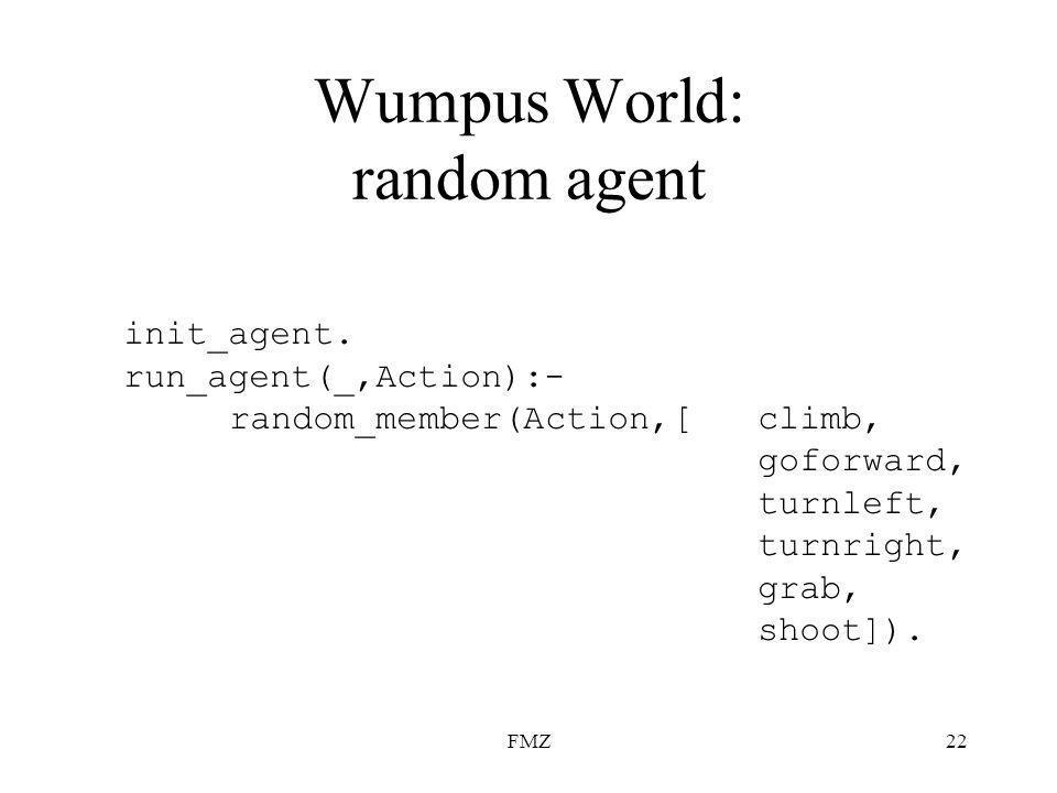 FMZ22 Wumpus World: random agent init_agent.