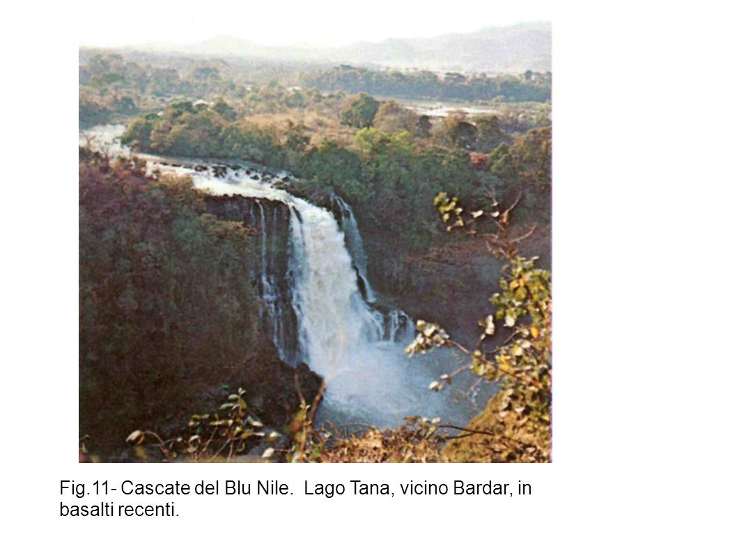 Fig.11- Cascate del Blu Nile. Lago Tana, vicino Bardar, in basalti recenti.