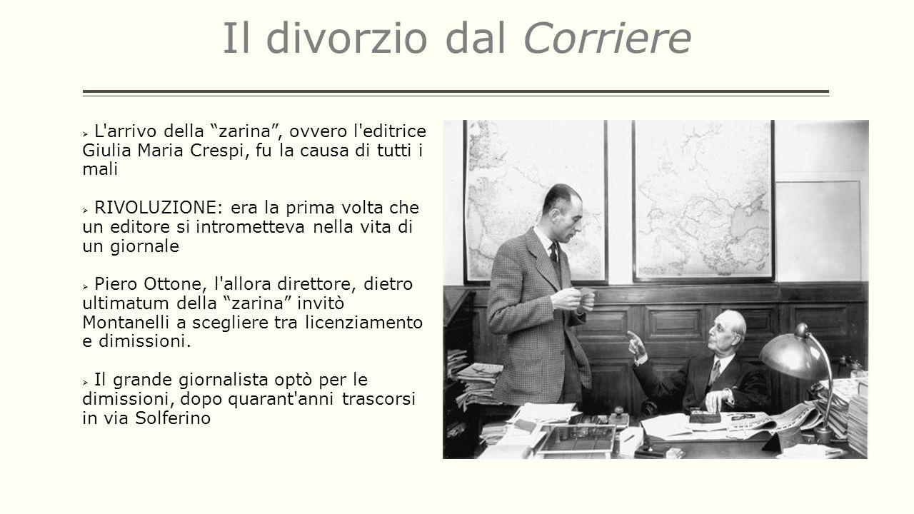 Il divorzio dal Corriere L'arrivo della zarina, ovvero l'editrice Giulia Maria Crespi, fu la causa di tutti i mali RIVOLUZIONE: era la prima volta che