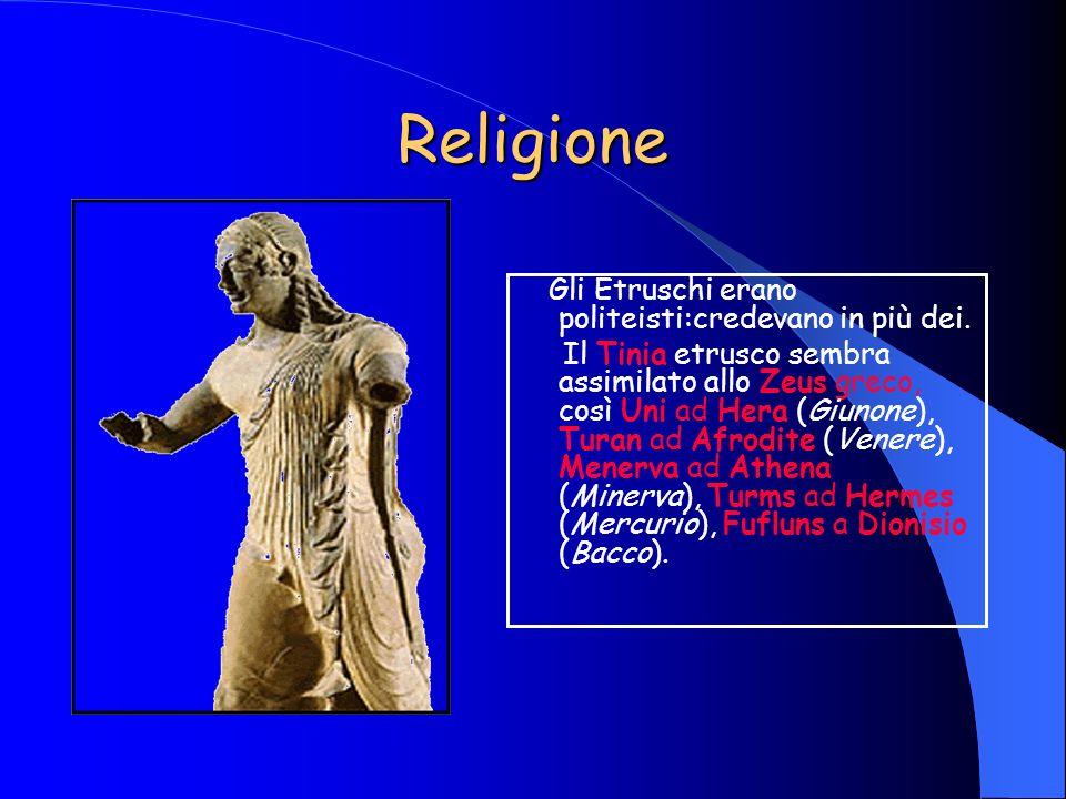 Religione Gli Etruschi erano politeisti:credevano in più dei.