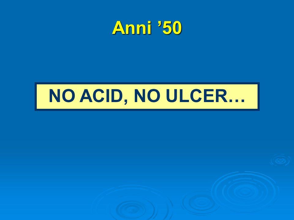 Anni 50 NO ACID, NO ULCER…